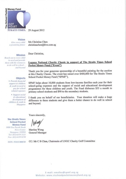 ThANK YOU LTR TO CHRISTINA CHEN